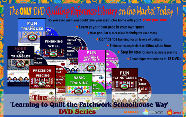 The ONLY DVD Quilting Reference Library on the Market Today!