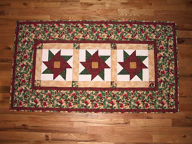 Beautiful Bouquets - Christmas Tablerunner