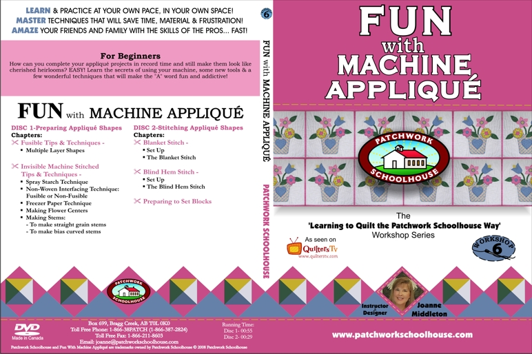 Fun With Machine Applique' DVD
